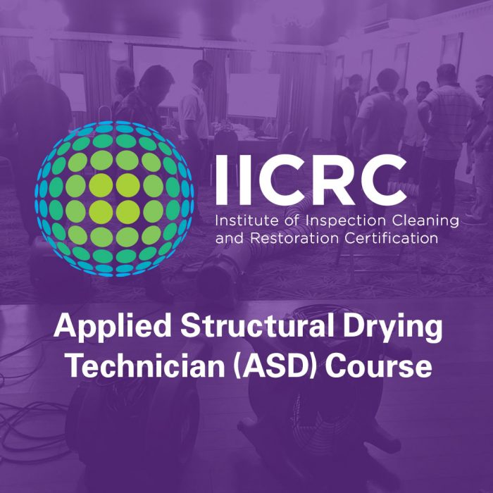 IICRC Applied Structural Drying (ASD) Course