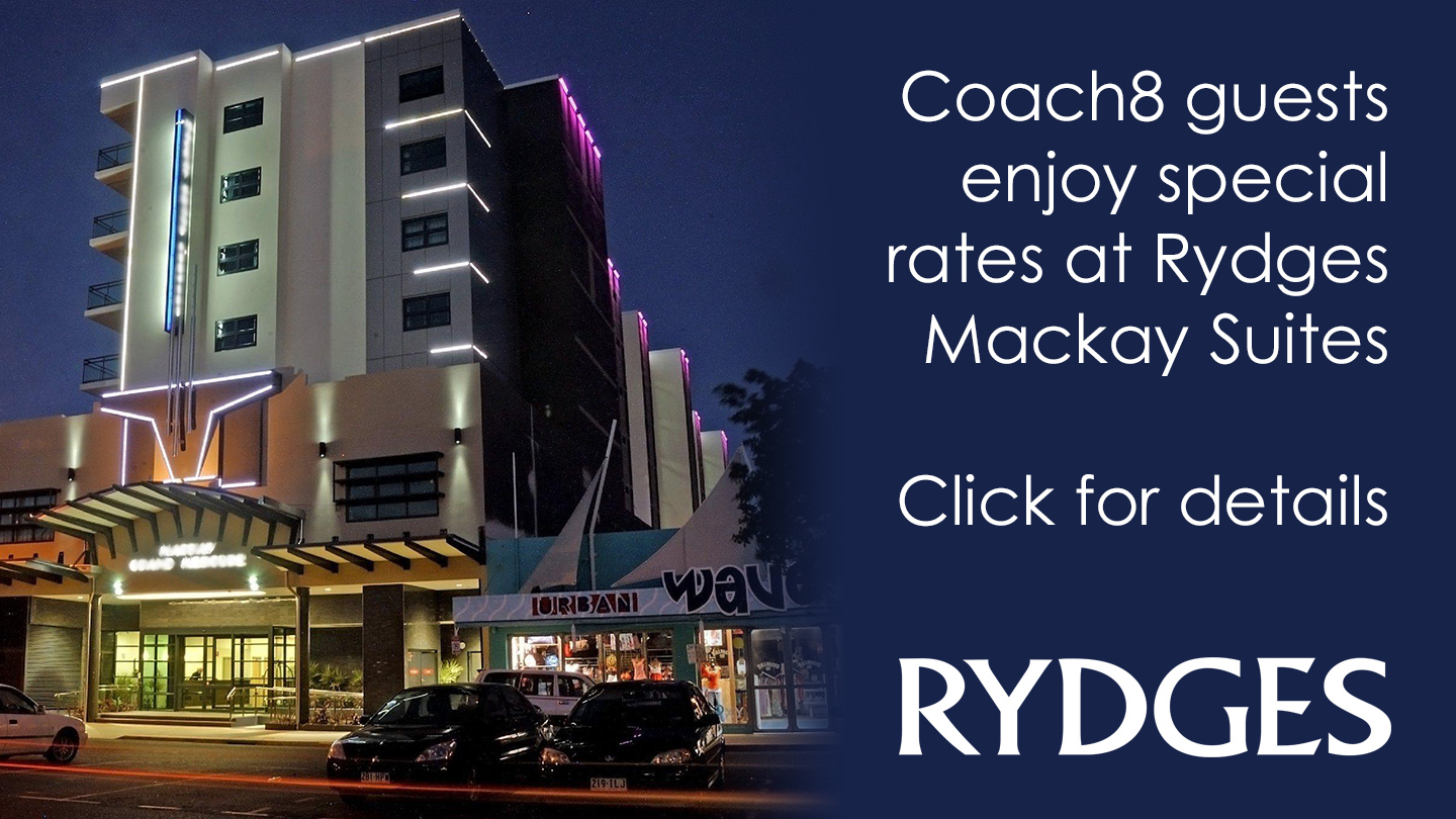 Special rates for Coach8 guests at Rydges Mackay Suites